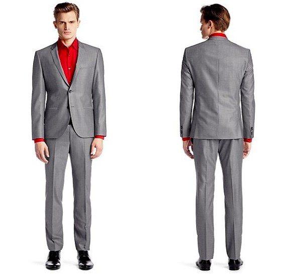 costume pour homme gris en laine vierge hugo boss