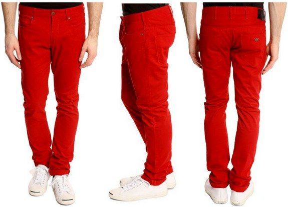 jean rouge armani jeans