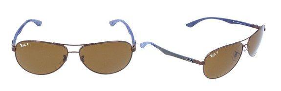 lunettes de soleil ray ban marron bleu