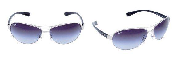 lunettes de soleil ray ban noir argent