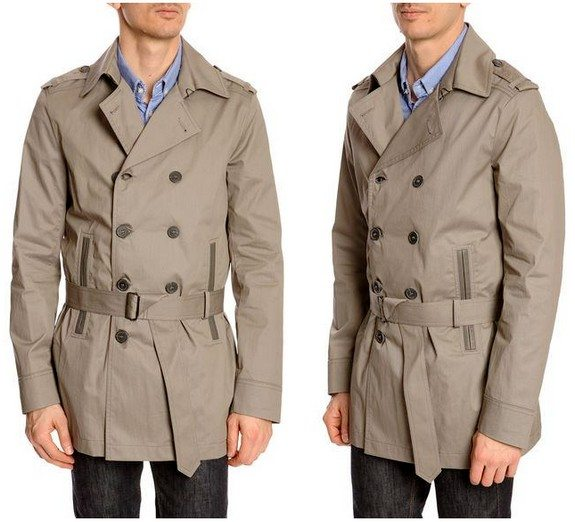 trench coat impermeable gris