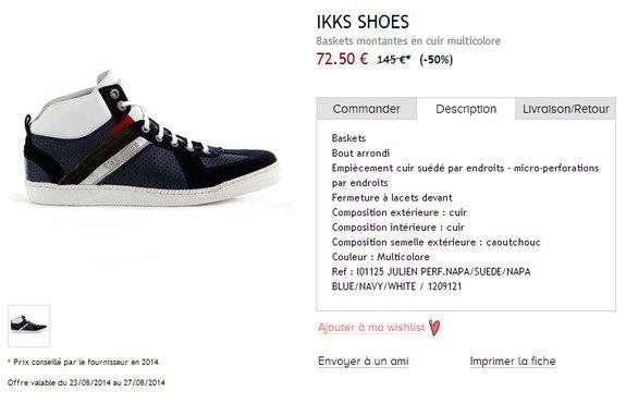 baskets montantes en cuir ikks shoes
