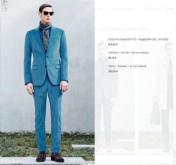 costume homme bleu hugo boss