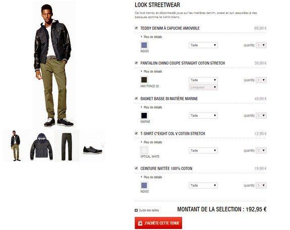 look homme streetwear celio