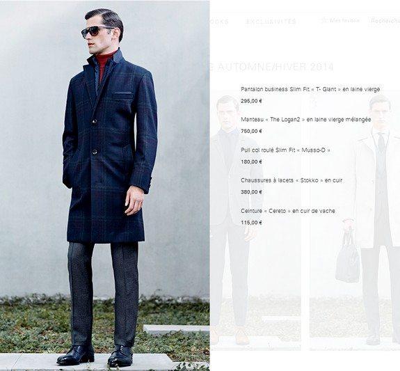 manteau en laine vierge hugo boss