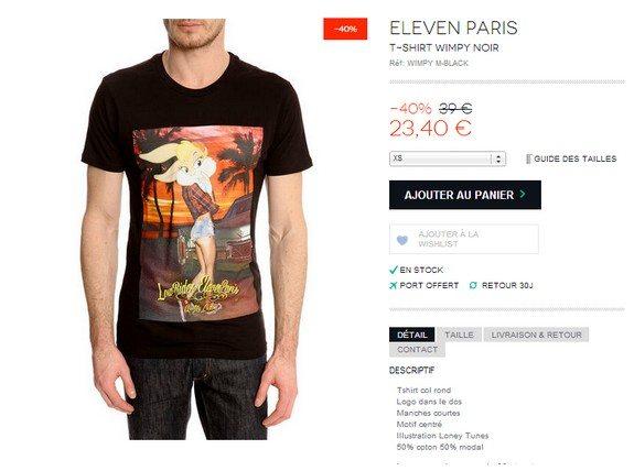 t shirt eleven paris