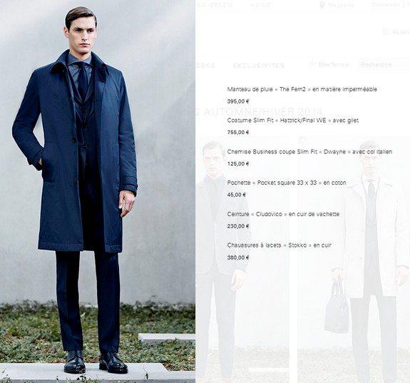 tenue homme boss manteau de pluie