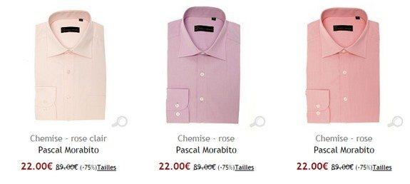 chemise rose