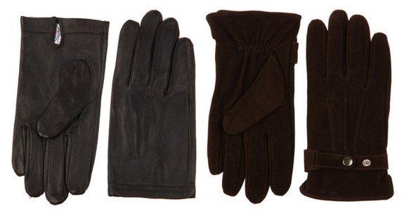 gants en cuir agneau et nubuck