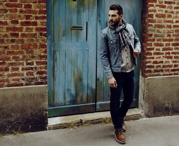 look homme denim western