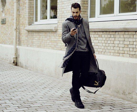 look homme en manteau