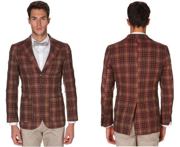 veste chevron en laine et coton christian lacroix