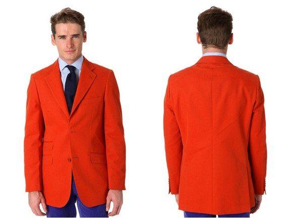 veste orange en coton vicomte A