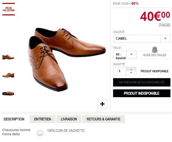 chaussures homme devred