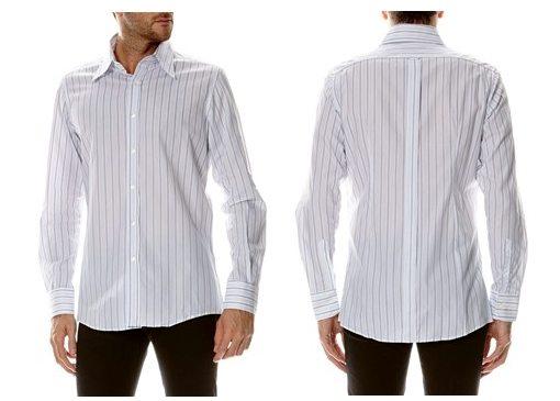 chemise blanche a rayures dolce gabbana
