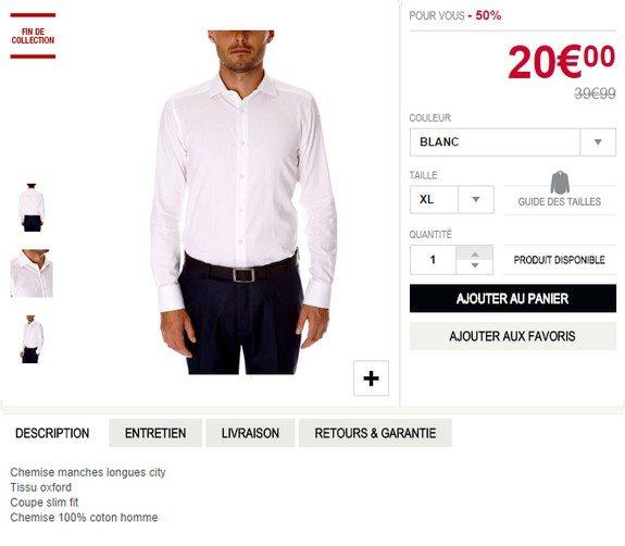 chemise blanche devred