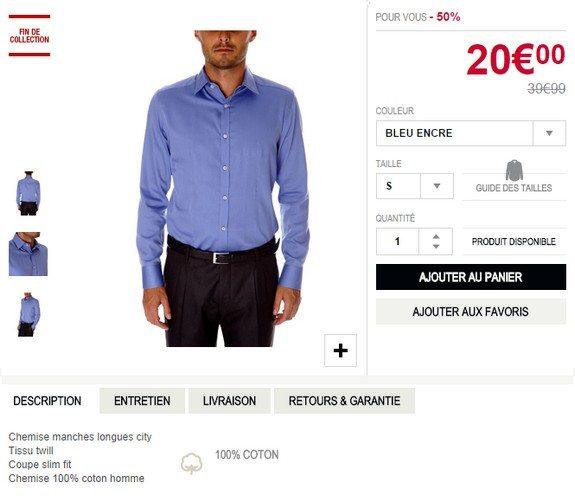 chemise bleue devred