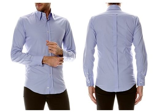 chemise bleue dolce gabbana