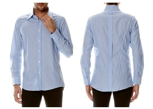 chemise bleue rayee dolce gabbana