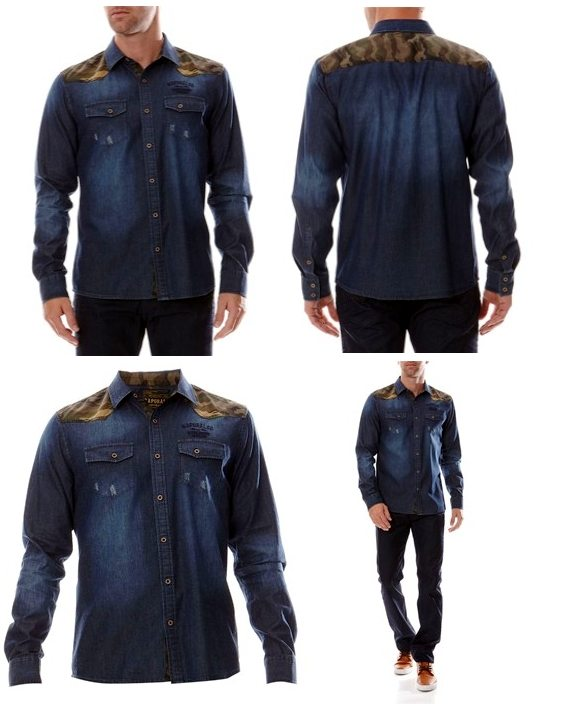 chemise jean denim originale kaporal