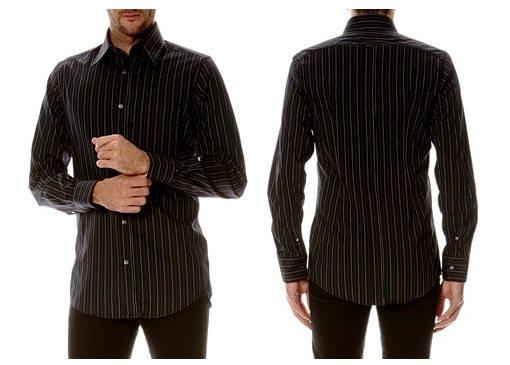 chemise noire rayures dolce gabbana