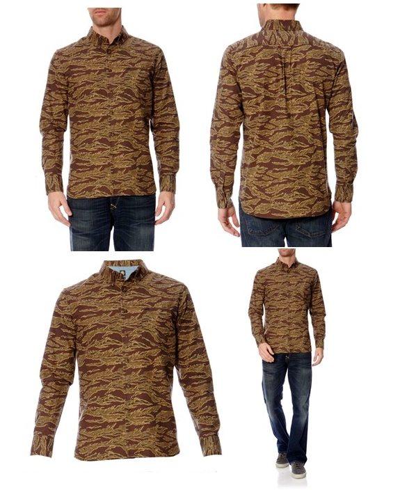 chemise originale camouflage element