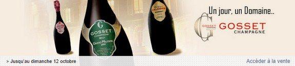 vente privee champagne gosset