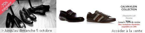 vente privee chaussures calvin klein