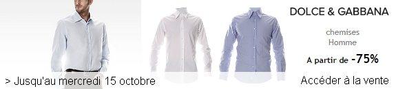 vente privee chemise dolce gabbana