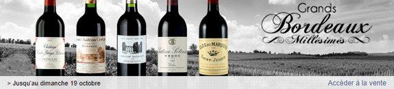 vente privee grands vins bordeaux millesimes