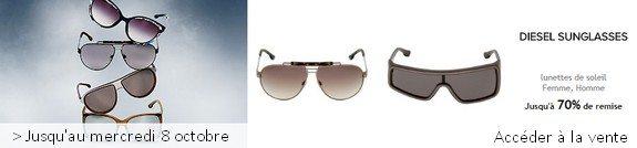 vente privee lunettes Diesel