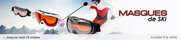vente privee masques de ski