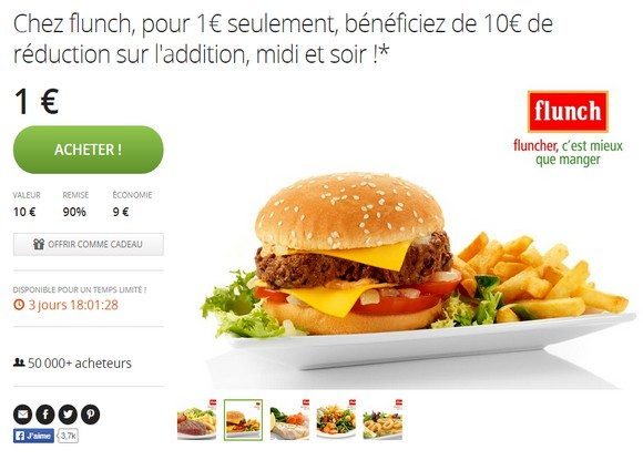 10€ de réduction chez Flunch !