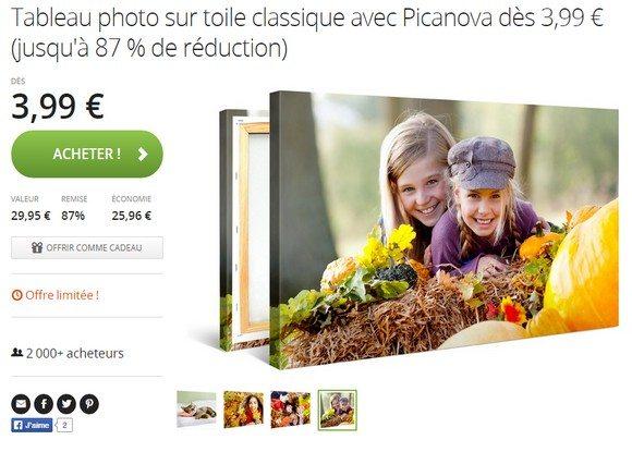 Tableau photo personnalisable dès 3,99€