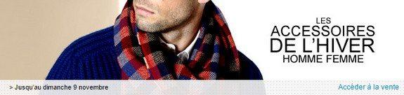 vente privee accessoire mode hiver homme femme