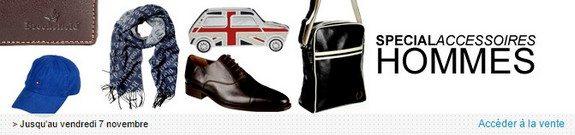 vente privee accessoire mode homme