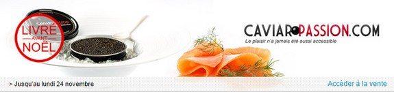 vente privee caviar saumon