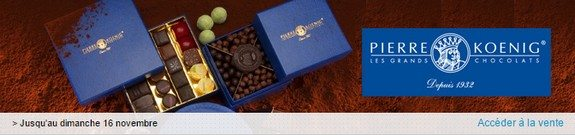 vente privee chocolats pierre koenig