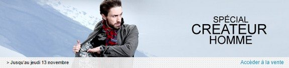 vente privee createur mode homme