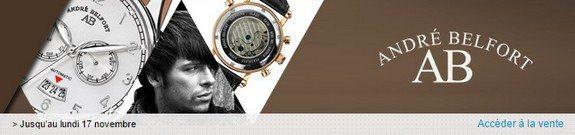 vente privee montres andre belfort