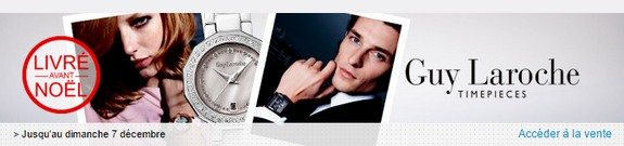vente privee montres guy laroche