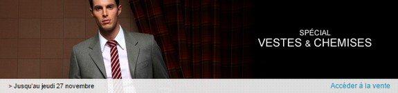 vente privee veste costume chemise cravate boutons de manchette
