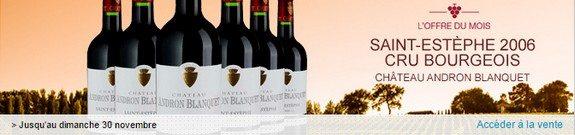 vente privee vin rouge saint estephe