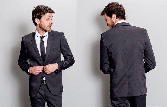 veste de costume coupe ajustee