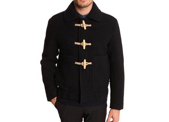 blouson duffle coat carven laine vierge