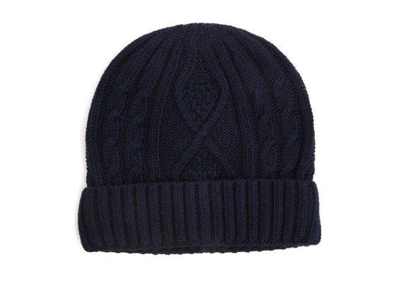 bonnet bleu marine menlook label