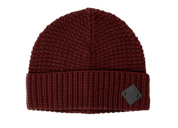 bonnet minimum coton laine rouge bordeaux