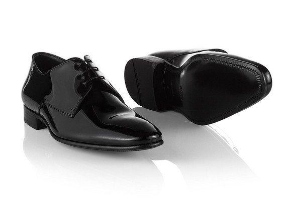 chaussures vernies derby en cuir hugo boss