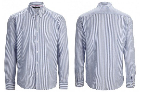 chemise bleue a rayures selected