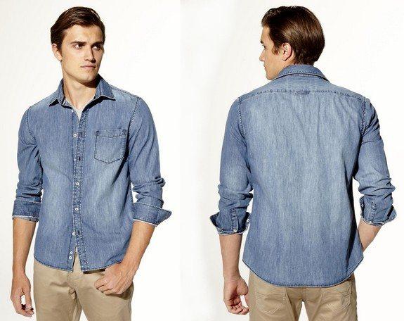 chemise denim en coton